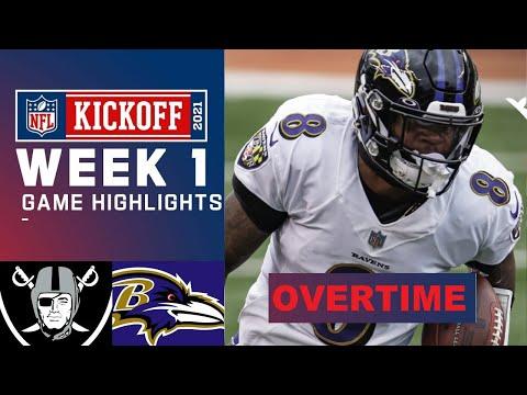 Baltimore Ravens vs Las Vegas Raiders Highlights Overtime Week 1 NFL Kickoff September 13 2021