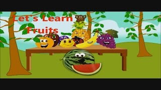 Fruits Name | Types Of Fruits | Names Of Fruits | Learn Names Of Fruits