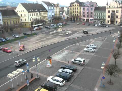 Denní videozáznam z webkamery na Masarykově náměstí 21.4.2012 Děčín