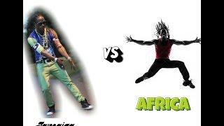 African man vs Jamaican man dance