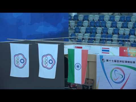 2016年亞洲滑輪錦標賽-雙花頒獎奏中華民國國旗歌