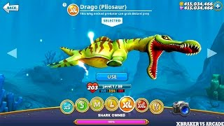Hungry Shark World New Shark Unlocked Drago Pliosaur New Update 2017