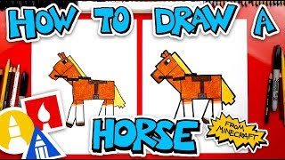 How To Draw A Horse From Minecraft