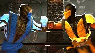 Injustice 2 - Sub-Zero Vs Sub-Zero All Mirror Intro Dialogue/All Clash Quotes, Super Move, Ending