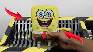 Experiment Shredding SpongeBob Squarepants And Toys | The Crusher