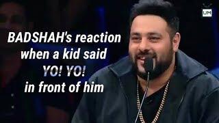 Badshah reaction when a Kid said Yo Yo in front of him | Super Dancer 2