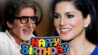 Ex-Porn Star Sunny Leone Wishes Amitabh Bachchan Happy Birthday | Bollywood Wishes BigB Happy bday