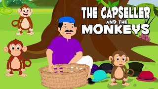 English Stories For Kids | The Cap Seller And The Monkeys | English Story Telling For Babies