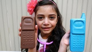Kids Pretend Play with Play Doh Shoe and Chocolate Phone!