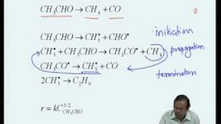 Mod-03 Lec-12 Complex Reactions - Kinetics of chain Reactions & Polymerization