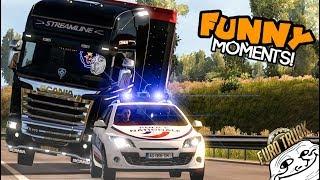Euro Truck Simulator 2 Multiplayer Funny Moments & Crash Compilation #51