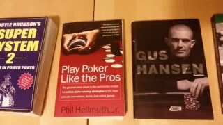 A walk-through of my poker books!