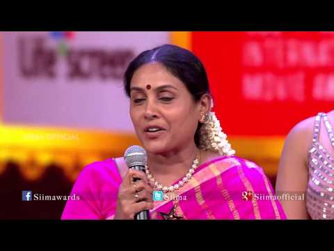 Micromax Siima 2015 | Best Actor Supporting Role Female | Saranya Ponvannan | Velai Illa Pattadhari