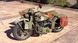 1942 Harley Davidson WLA and Sidecar For Sale