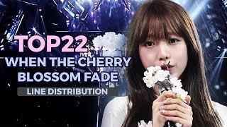 TOP22 Produce 101 - When The Cherry Blossom Fade (LINE DISTRIBUTION)