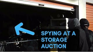 I wore Secret Undercover SPY Glasses To A LIVE STORAGE UNIT AUCTION!