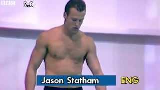 Jason Statham de joven compitiendo en clavados(1990)
