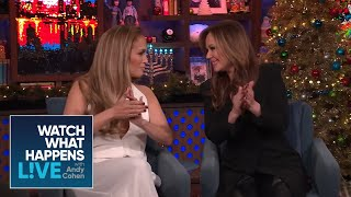 Jennifer Lopez Shades Leah Remini's Cooking | WWHL