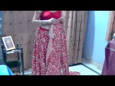 Lehnga Duppatta Draping Tutorial in four different style - Part 1