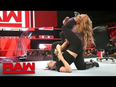 Xxx Mp4 Ronda Rousey Traps Nia Jax In An Armbar Raw June 11 2018 3gp Sex
