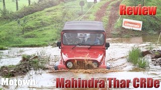 2015 Mahindra Thar CRDe | First Drive | Road & Offroad Test Review | Motown India