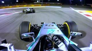 Rosberg v Hamilton, 2014 Bahrain Grand Prix   F1 Classic Onboard