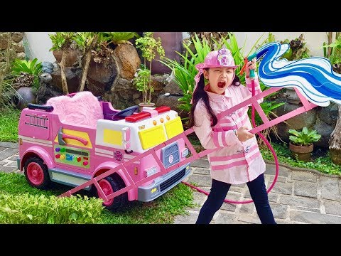 Bug s Pink Fire Truck Funny Rescue Mission