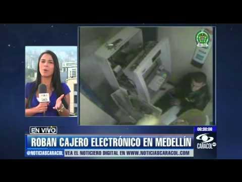 Así se robaron 326 millones de un cajero en Medellín