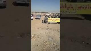 Iran, Ispahan, les agriculteurs aussi protestent pour  réclamant le droit à l