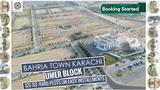 New Booking 125 Sq Yard Plots in Bahria Town Karachi on Easy Payment Plans, Book Your Plot Now !!