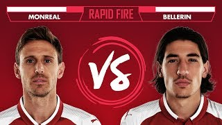 WHO'S YOUR FAVOURITE WWE WRESTLER? | Rapid Fire with Bellerin & Monreal