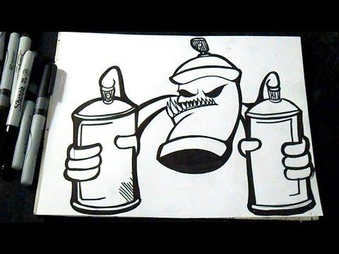 Cómo dibujar un aerosol con Latas de spray Graffiti