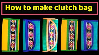 new clutch bag/Diy/handcrafted clutch bag/hindi/learn how to make at home/magical hands/