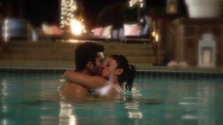 Jane the Virgin 1x19 Jane and Rafael Hot Swimming Pool Kiss Scene