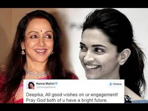 Hema Malini Wishes Deepika On Her Engagement?