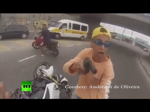 Xxx Mp4 Dramatic Video Man Shot By Cop After Stealing Motorcycle At Gunpoint 3gp Sex