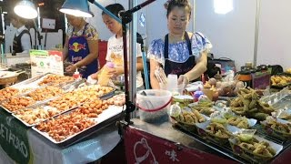 Bangkok Street Food. Night and Day Around the Stalls in the Markets. Thailand