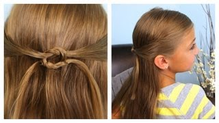 Pullbacks into Square Knot | Daddy 'Do Hairstyles | Cute Girls Hairstyles