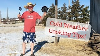 Cold Weather Cooking Tips for Grilling and Dutch Oven Cooking