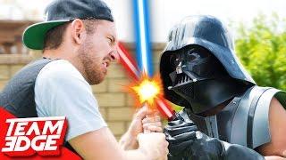 Star Wars Hoverboard Lightsaber Battle!