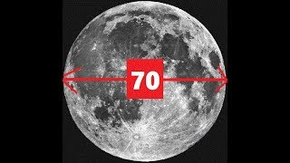 The Moon Is ONLY 70 Miles Wide!