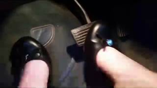 Amber Pedal Pumping in Black Flats Teaser