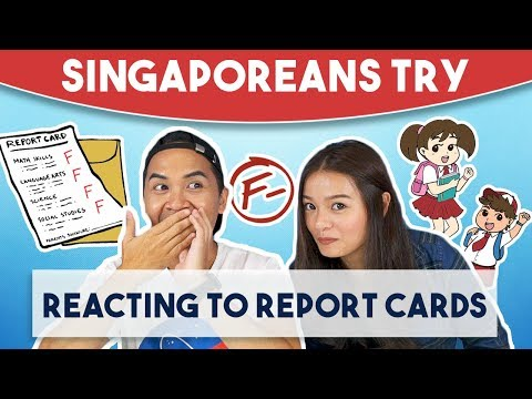Singaporeans Try: Reacting To Report Cards