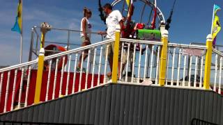 Jara and Becky on the sling shot at OC pier part 2 of 2