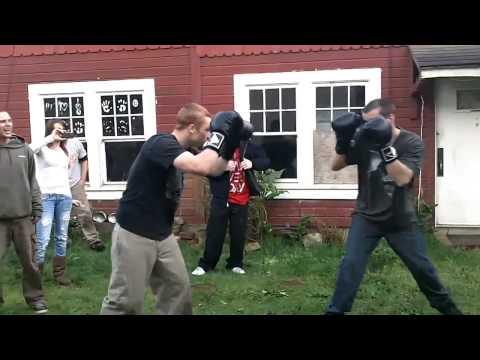 Irish Drunk vs. Redneck Drunk Backyard Boxing