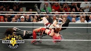 Asuka's offense floors Nikki Cross and Ruby Riot - NXT Women's Title Match: NXT Takeover: Chicago