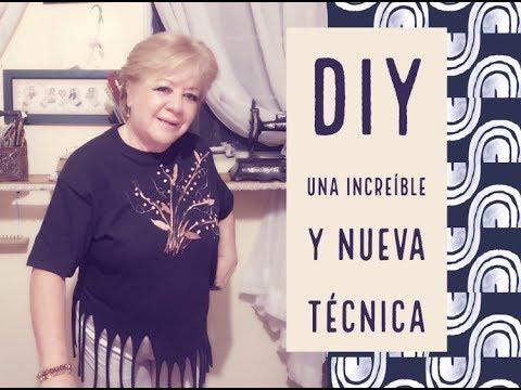 DIY - UNA INCREIBLE Y NUEVA TECNICA /  AN INCREDIBLE AND NEW CRAFT