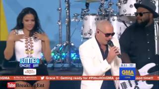 Pitbull - Messin' Around LIVE in GMA