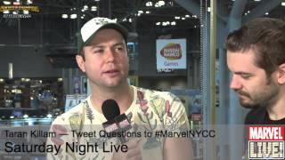 Taran Killam Does Some Amazing Character Impressions on Marvel LIVE! at NYCC 2014