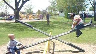 Seesaw up and down